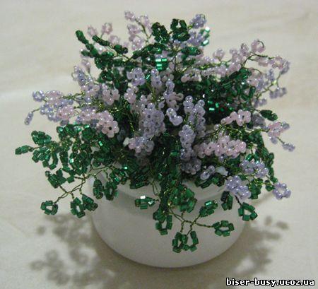 бисера цветы